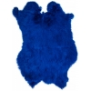 Rabbit Fur Skin - Medium Grade  Dyed Blue (1pc)
